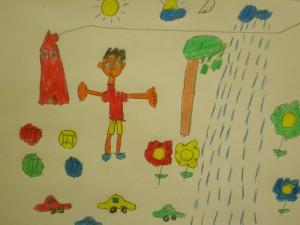 Dibujo de uno de nuestros chicos